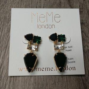 """UK Designer Gold Art Deco """"Sophie"""" Earrings"""